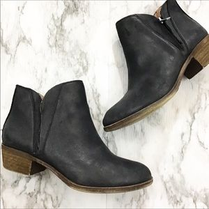 Lucky Brand LP-Brenon Black Leather Bootie